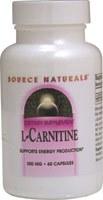 Source Naturals L-Carnitine (Tartrate) 500mg, 60 capsules