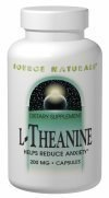Source Naturals L-Theanine, 200mg, 30 capsules