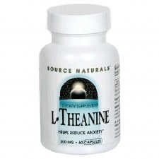 Source Naturals L-Theanine, 200mg, 60 capsules