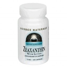 Source Naturals Zeaxanthin with Lutein, 10mg, 60 capsules