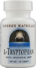 Source Naturals L-Tryptophan, 500mg, 30 tablets