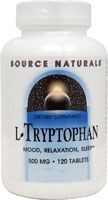 Source Naturals L-Tryptophan, 500mg, 120 tablets