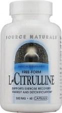 Source Naturals L-Citrulline, 500mg, 60 capsules