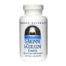 Source Naturals L-Arginine Citrulline, 120 tablets