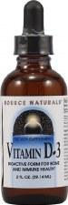 Source Naturals Liquid Vitamin D3, 2 oz.