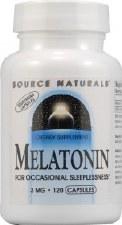 Source Naturals Melatonin, 3mg, 120 vegetarian capsules