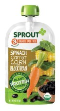 Sprout Spinach, Carrot, Corn & Black Bean Baby Food, 3.5 oz.