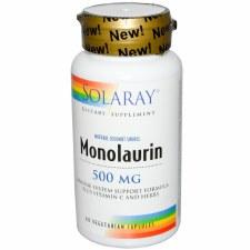 Solaray Monolaurin, 500mg, 60 vegetarian capsules