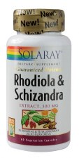 Solaray Rhodiola and Schizandra, 60 vegetarian capsules