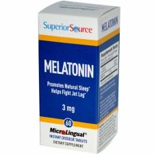 Superior Source Melatonin 3 mg, 60 tablets