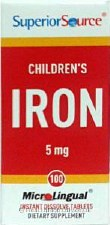 Superior Source Children's Iron 5 mg, 100 tablets