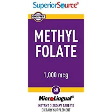 Superior Source Methylfolate 1000mcg, 60 tablets