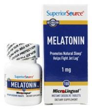 Superior Source Melatonin 1 mg, 100 tablets
