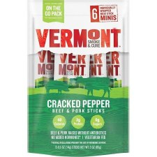 Vermont Smoke & Cure Cracked Pepper Meat Stick, 6 pk.