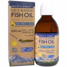 Wiley's Finest Peak Omega-3 Liquid Wild Alaskan Fish Oil, 8.45 oz.
