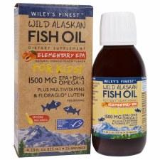 Wiley's Finest Wild Alaskan Fish Oil Elementary EPA For Kids! 1500mg, 4.23 oz.