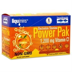 Trace Minerals Research Tangerine Liquimins Power Pak, 30 packets