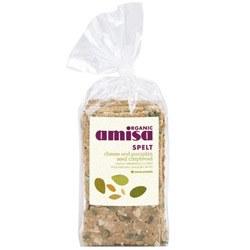 Amisa Org Cheese Pumpkinseed Crisp 200g