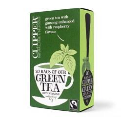 Clipper Green Tea With Ginseng 20bag
