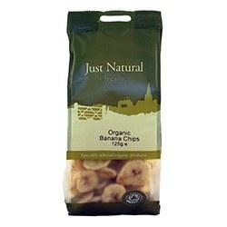 Just Natural Organic Org Banana Chips 125g