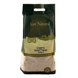 Just Natural Organic Org Millet Flakes 500g
