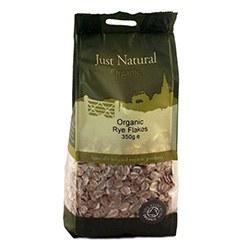 Just Natural Organic Org Rye Flakes 350g