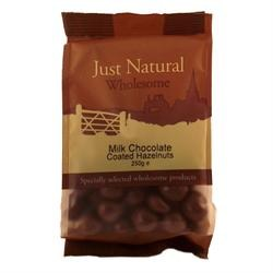 Just Natural Wholesome Milk Chocolate Coated Hazelnut 250g