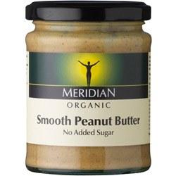 Meridian Org Smooth Peanut Butter +salt 280g