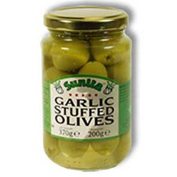 Sunita Garlic Stuffed Olives 1x360gm