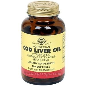 Solgar Cod Liver Oil Softgels 100