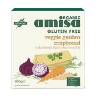 Amisa GF Veggie Crispbread Organic 100g