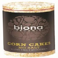 Biona Org No Salt Corn Cakes 110g