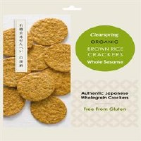 Clearspring Org Rice Crackers Whole sesami 40g
