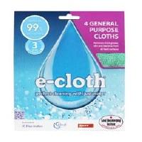 E-Cloth 4 General Purpose Cloths 4pack
