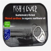 Fish4Ever Sardine Fillets in Org S/F Oil 1x90g