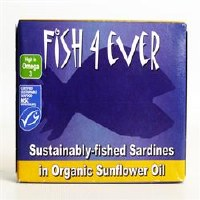 Fish4Ever Whole Sardines in Org S/F Oil 1x120g