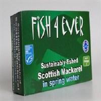 Fish4Ever Mackerel in Spring Water 1x125g