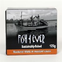Fish4Ever Mackerel Fillets in Mustard 1x125g