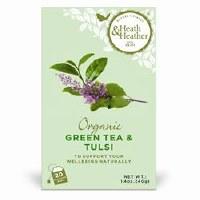Heath And Heather Organic Green Tea & Tulsi 20bag