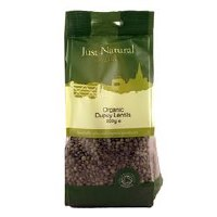 Just Natural Organic Org Dark Green Lentils 500g