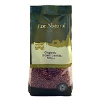 Just Natural Organic Org Brown Lentils 500g