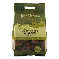 Just Natural Organic Org Apricots Unsulphured 250g