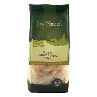 Just Natural Organic Org Toasted Coconut 125g
