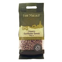 Just Natural Organic Org Sunflower Seeds 125g