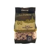 Just Natural Organic Org Cashews Whole 250g