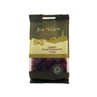 Just Natural Wholesome Org Sweetened Cranberries 125g