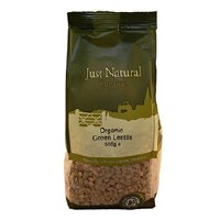 Just Natural Organic Org Green Lentils 500g