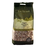 Just Natural Organic Org Rye Flakes 350g