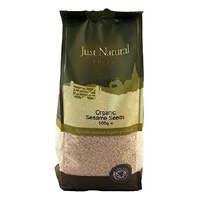 Just Natural Organic Org Sesame Seeds Hulled 500g