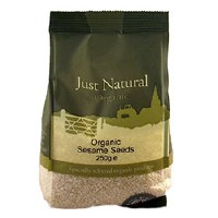 Just Natural Organic Org Sesame Seeds Hulled 250g